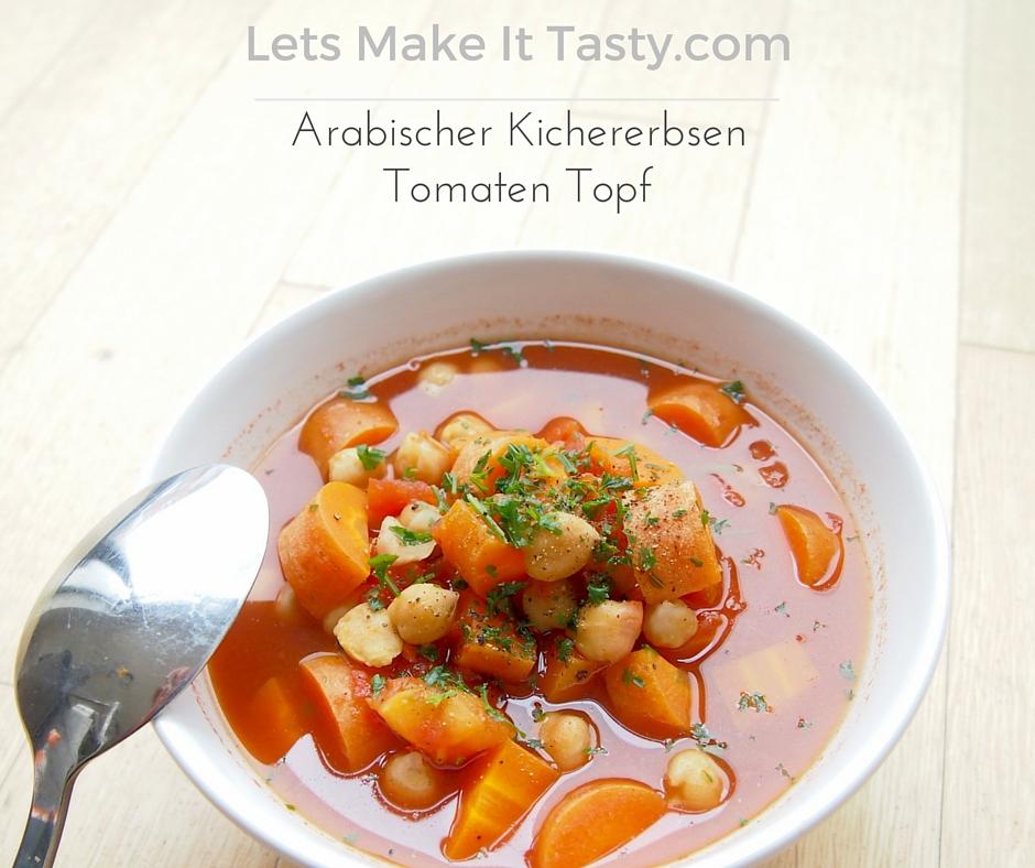 Arabischer Kichererbsen Tomaten Topf